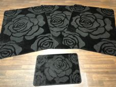 ROMANY WASHABLES NEW SETS OF 4 MATS XXLARGE SIZE 100X140CM GREY ROSE NON SLIP